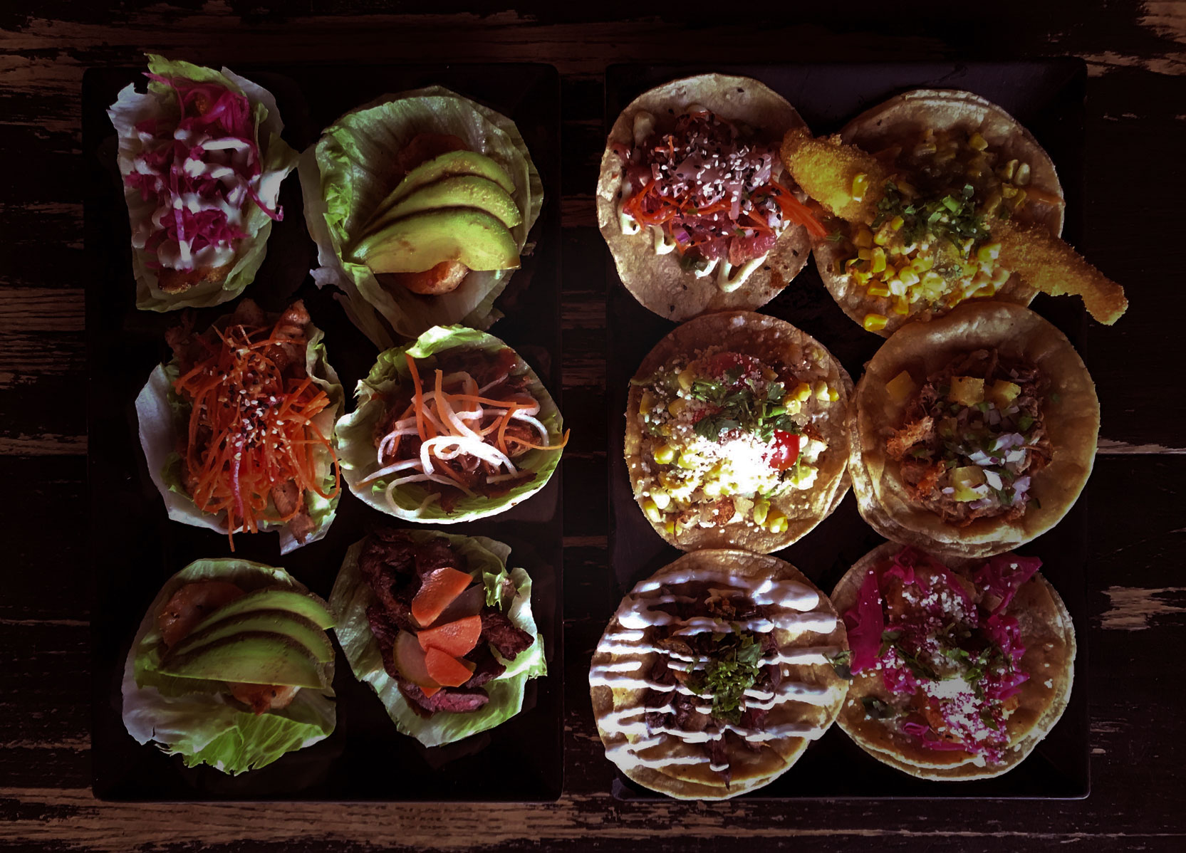 Photo of tacos and baos at Little Bad Wolf in Andersonville